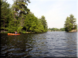 Kayaking on Lovesick Lake