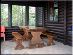 Screened Porch on Log Cabin